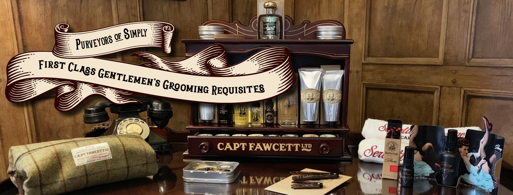 Captain Fawcett products at West Man Barbershop Aberdeenshire