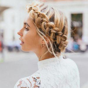Plaited hairstyles Westhill Aberdeen hairdressers
