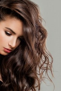 Sexy Beautiful Woman Fashion Model with Perfect Hairstyle and Makeup. Brunette Beauty