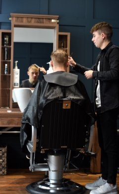 CR0013801 Society feature on Mens hair at West With Style, Westhill. Picture by Jim Irvine  5-9-19